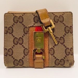 Gucci Bags - GUCCI Wallet-Monogram Canvas & Leather